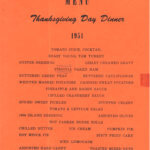 Thanksgiving Menu, Guam, 1951